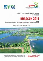 World Brackishwater Aquaculture Conference, 23-25 January 2019, Chennai, India
