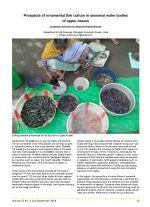 Prospects of ornamental fish culture in seasonal water bodies of upper Assam