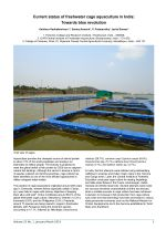 Current status of freshwater cage aquaculture in India: Towards blue revolution