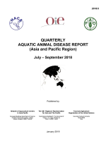 Quarterly Aquatic Animal Disease Report, July-September 2018