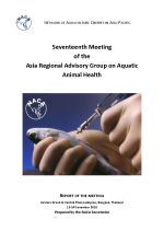 Report of the Seventeenth Meeting of the Asia Regional Advisory Group on Aquatic Animal Health