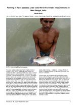 Farming of Asian seabass Lates calcarifer in freshwater impoundments in West Bengal, India