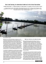 Mud crab farming: An alternative livelihood in the Indian Sundarban