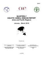 Quarterly Aquatic Animal Disease Report, January-March 2019