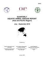 Quarterly Aquatic Animal Disease Report, July-September 2019