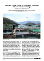 Impacts of climate change on aquaculture in Vietnam: A review of local knowledge
