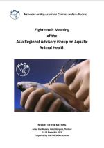Report of the Eighteenth Meeting of the Asia Regional Advisory Group on Aquatic Animal Health