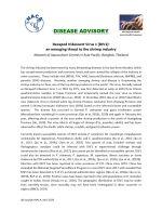 Disease advisory: Decapod Iridescent Virus 1 (DIV1): An emerging threat to the shrimp industry