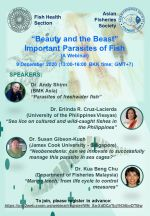 Webinar: Beauty and the Beast: Important Parasites of Fish