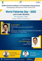 World Fisheries Day Lecture Series, 20 December: Biosecurity - the concept to guarantee the sustainable development of aquaculture