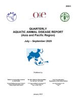 Quarterly Aquatic animal Disease Report, July-September 2020